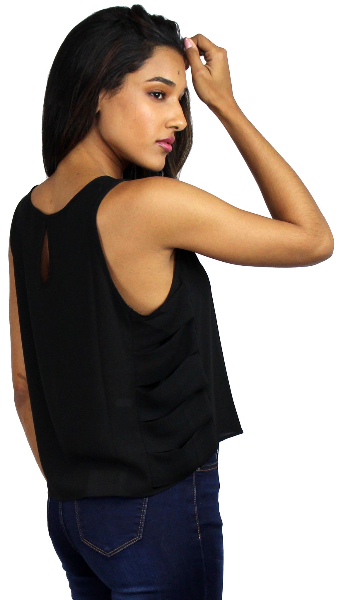 Simple Sleeveless Black Top