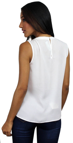 Far Side White Sleeveless Top