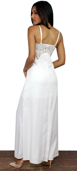 Gracefully Yours Ivory Lace Maxi Dress