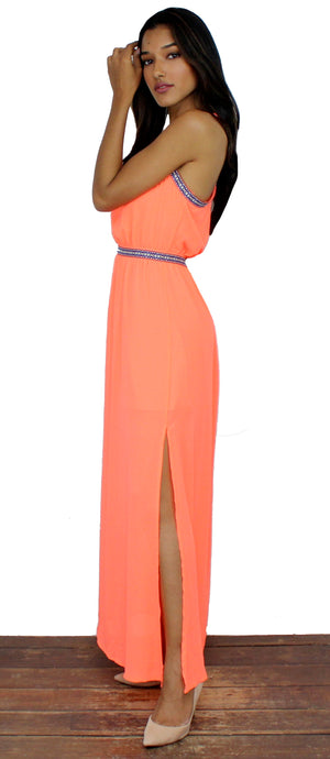 In Love with Orange Maxi Dress