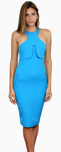 Papertown Azure Bodycon Midi Dress