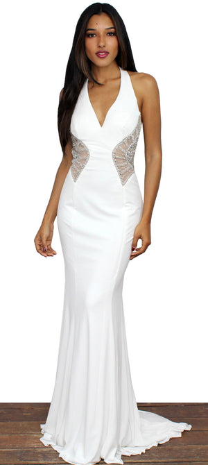 Can't Take My Eyes Off Of You White Formal Gown