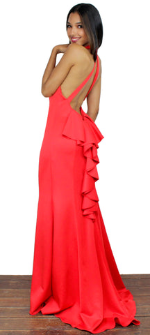 Serious Love Ruffle Red Formal Gown