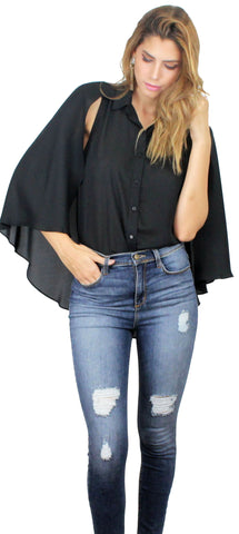 Essential Cape Black Top
