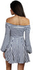 Hello, Darling Stripes Off-Shoulder Dress