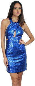 Feelin' So Good Royal Blue Sequin Dress