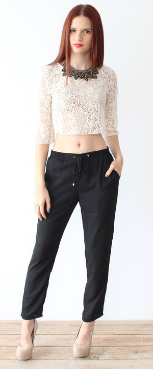 All You Need Black Cute Pants