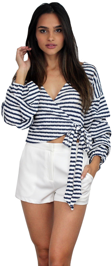 Hello, Darling Stripes Long Sleeves Top