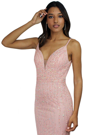 Slink and Wink Blush Formal Gown
