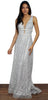 Everything's All Bright Silver Formal Gown