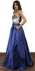 Royal Romance Navy Satin Formal Gown