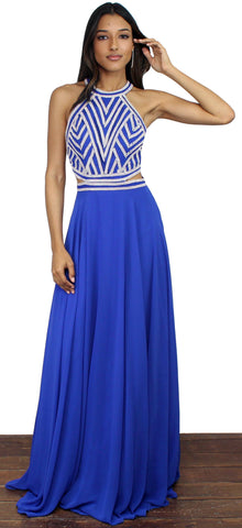Depths of My Love Royal Blue Formal Gown