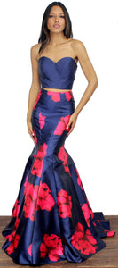Bloom With a Navy Two-Piece Set Gown