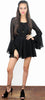 Modern Romance Long Sleeves Black Romper