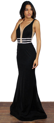 Shine Bright Black Mermaid Gown