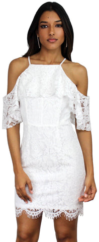 Wish Me Luxe White Lace Dress