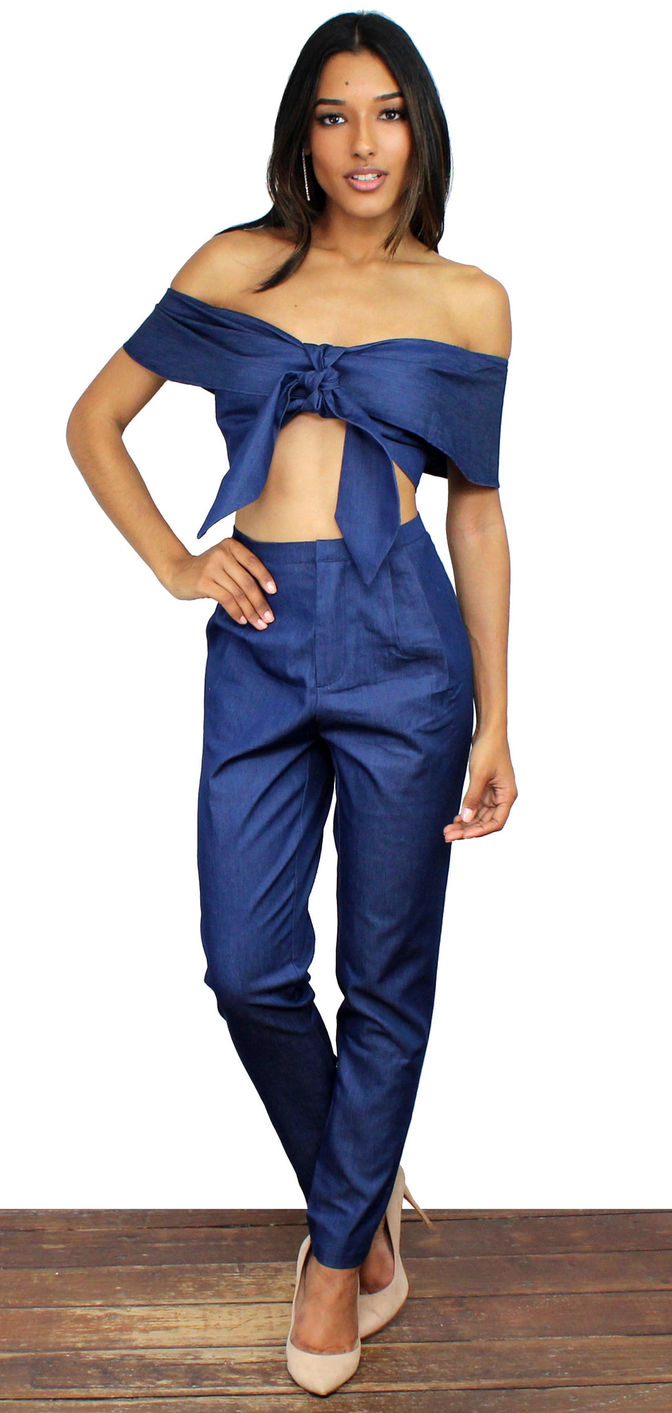 Dream Street Dark Denim Two-Piece Set