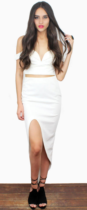 Fool Me Twice Ivory Two-Piece Set