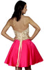 Letters of Love Fucsia Short Formal Dress