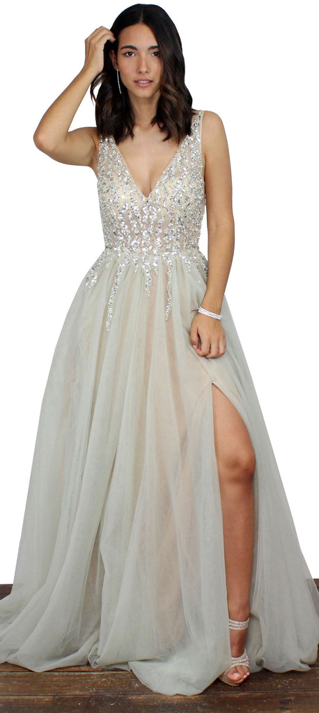 Meet me at Prom Mint Mesh Formal Gown