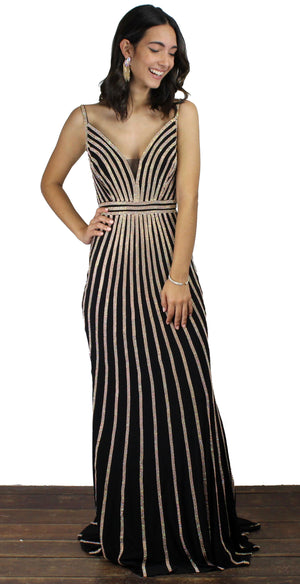 True Love Black & Gold Formal Gown