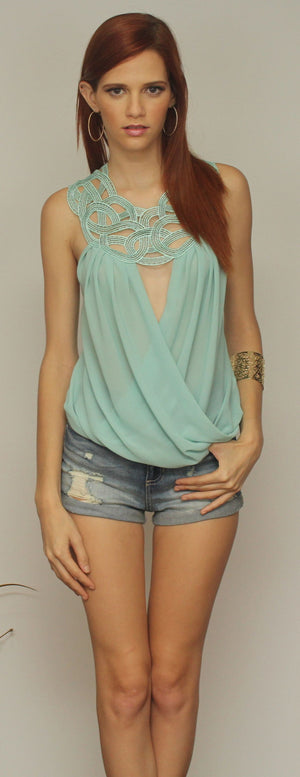 Sweet Escape Mint Top