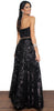 Shine at Night Black Sequins Gown