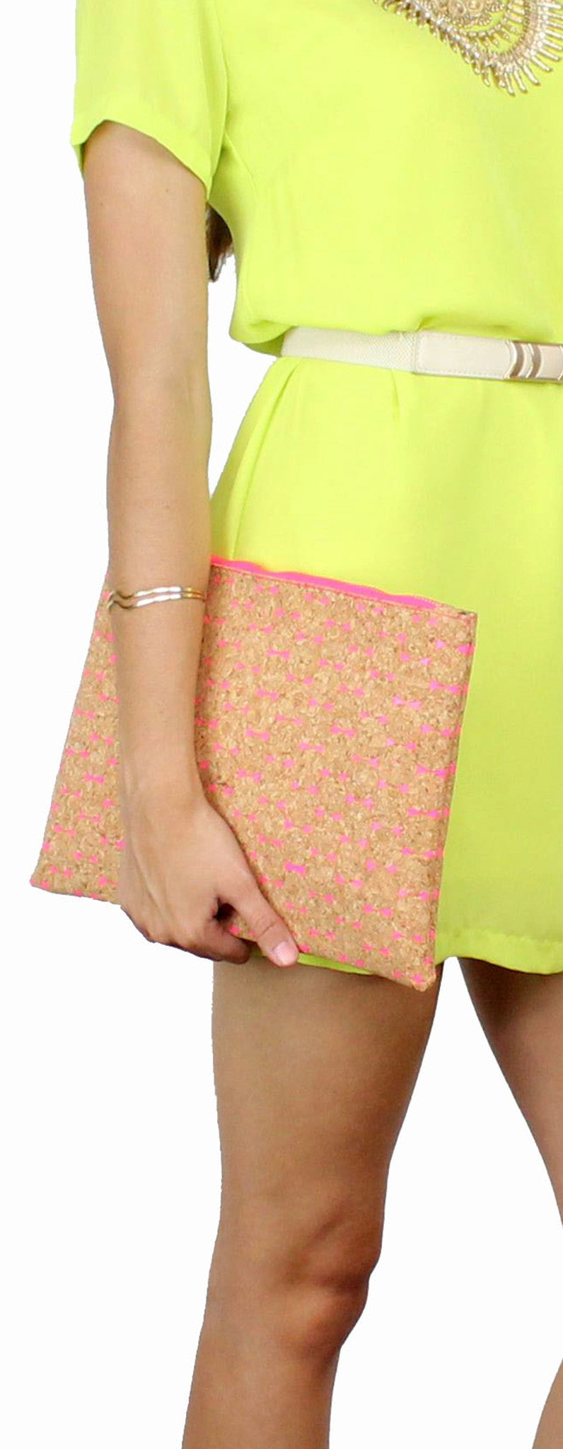 How to Love Cork & Hot Pink Clutch