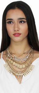 Wandering Gold Statement Necklace