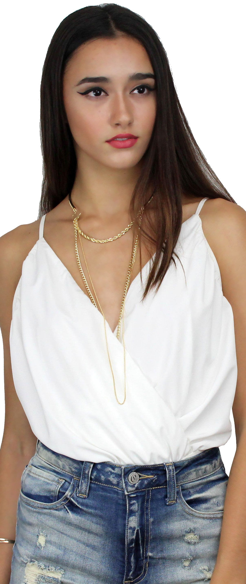 Of Subtance Gold Layered Necklace