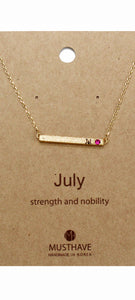 Which is your Bday Month? July Necklace