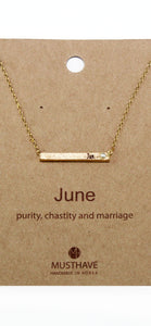 Which is your Bday Month? June Necklace