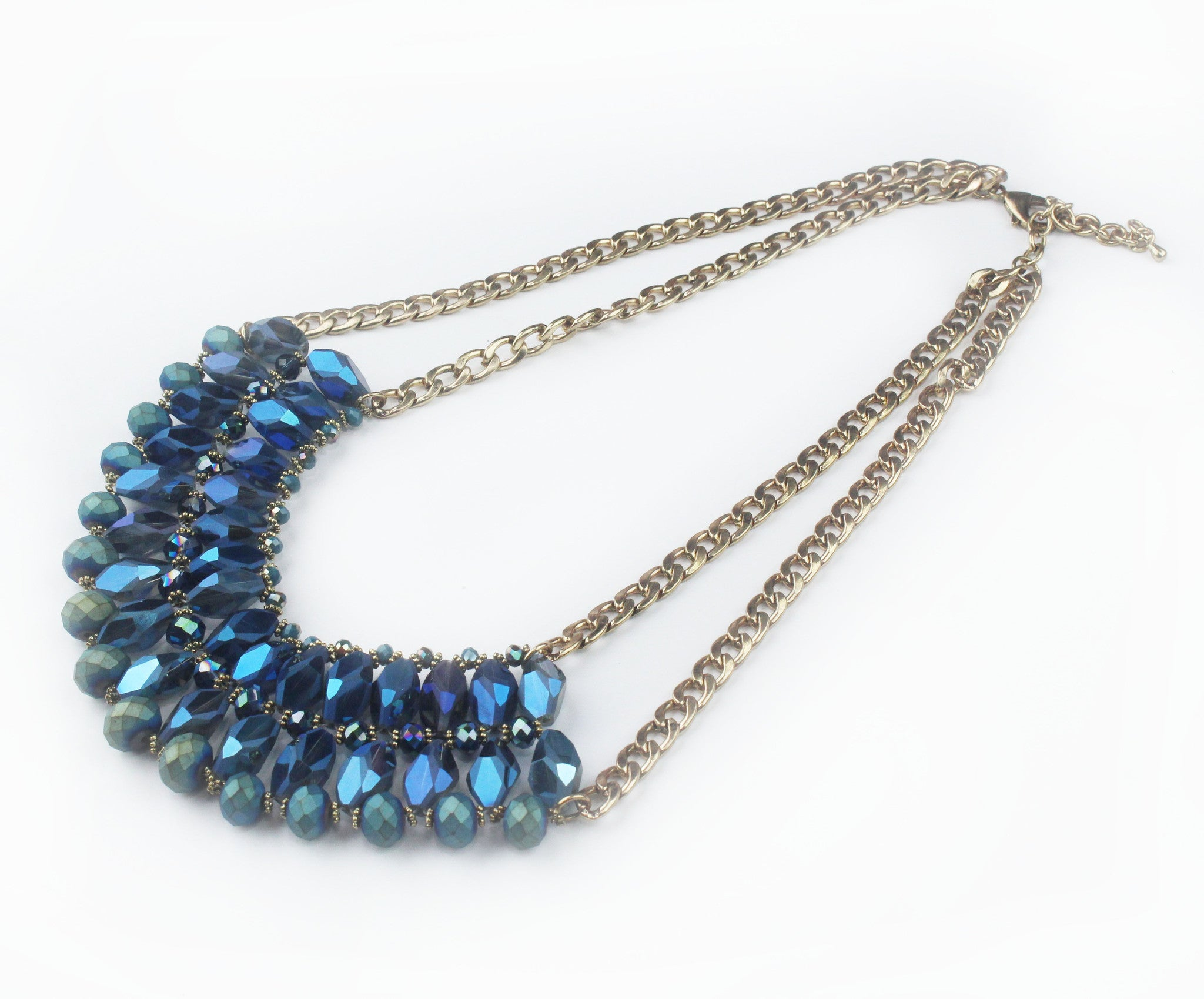 Master of Stun Blue Statement Necklace