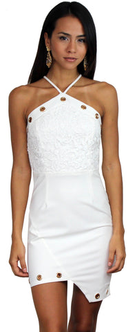 Flaunt It Light White Lace Bodycon Dress
