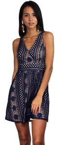 Love in the Air Navy Lace Dress