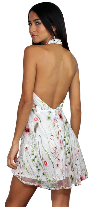 Sweetest Retreat White Floral Dress