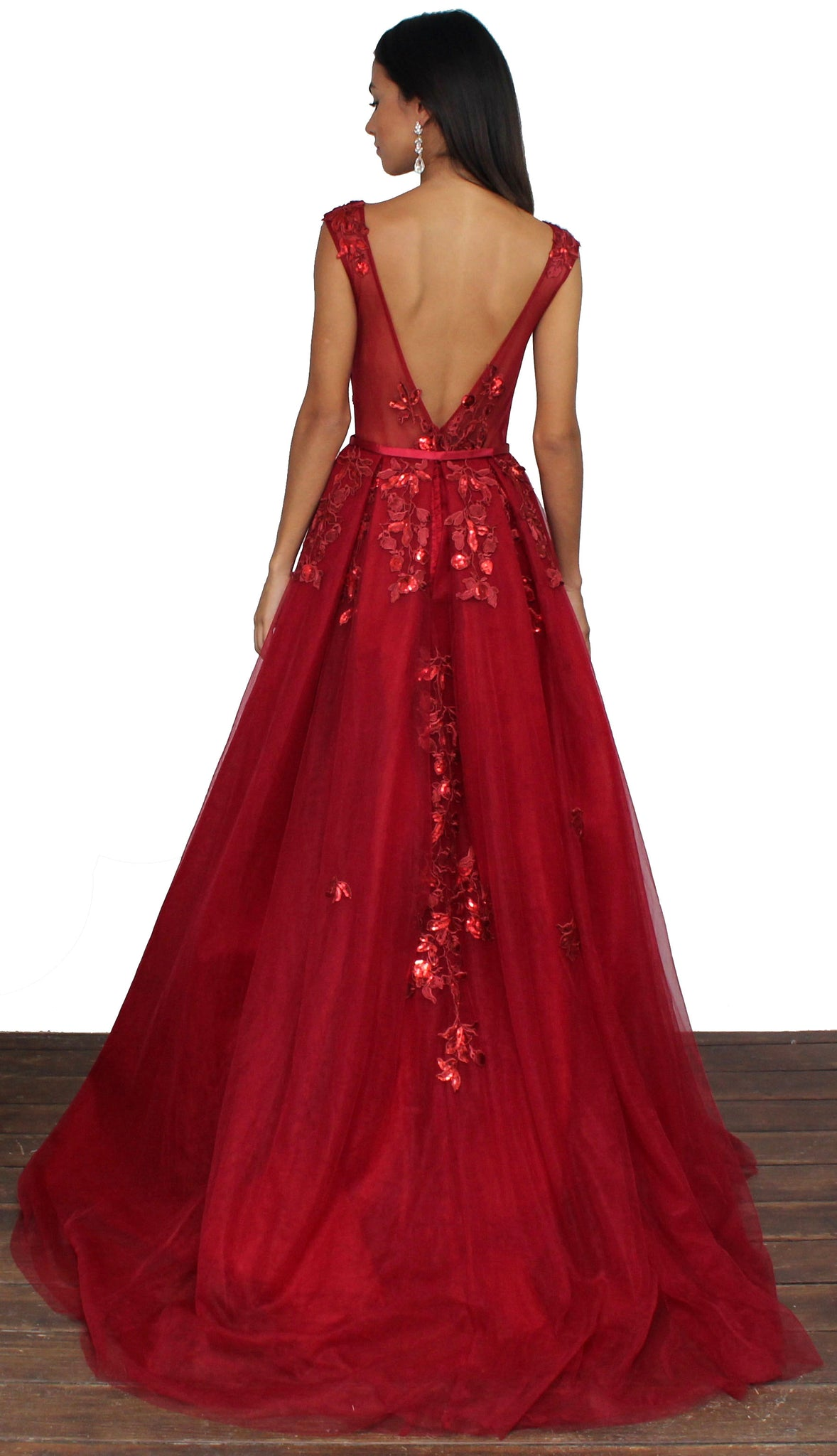 Divine Destiny Wine Formal Gown