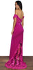 Magic Moment Magenta Formal Gown