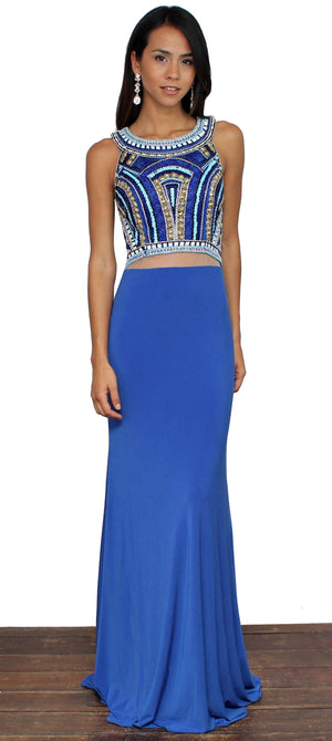 She Know Royal Blue Formal Gown