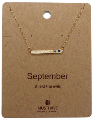 Which is your Bday Month? September Necklace