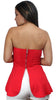 Like You Strapless Red Peplum Top