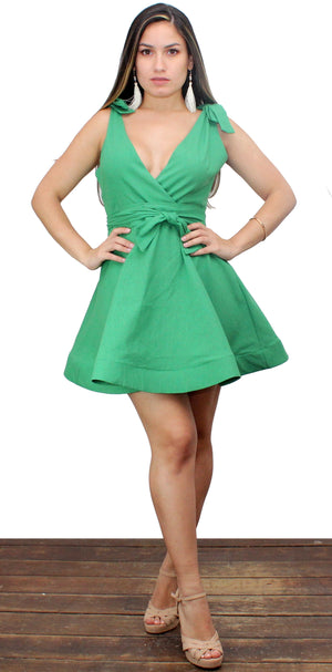 Positively Perfect Green Fit & Flare Dress