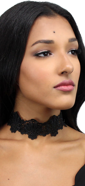 Fact of Fashion Black Lace Choker Necklace