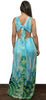 Bloom On Turquoise Print Maxi Dress