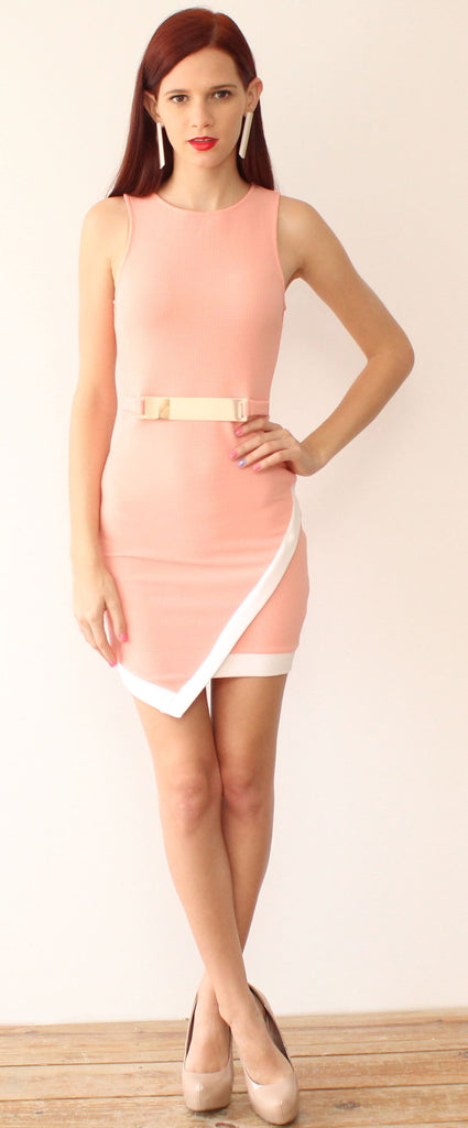 Afternoon Tea Please Cute Peach Dress