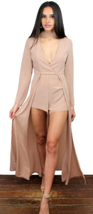 Deeply in Love with Nude Maxi-Romper