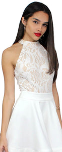 Endlessly Alluring White Lace Bodysuit