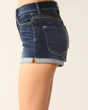 At Night with High Waist Denim Shorts