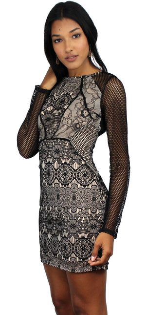 Tribute to Perfection Black Lace Dress