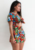 Lucy Loves Tropical Print Romper